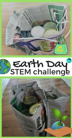 Plastic is polluting our Earth. In this STEM task you are challenged to design a usable bag that is made from degradable materials. Will is be strong enough? #STEM #design #earthday #recycle #plastic #challenge #noplastic #teacherspayteachers