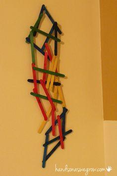 A Preschooleru0027s Idea Of What To Make With Craft Sticks.