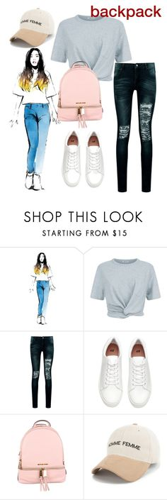 """""""backpack"""" by masayuki4499 ❤ liked on Polyvore featuring T By Alexander Wang, Boohoo and MICHAEL Michael Kors"""