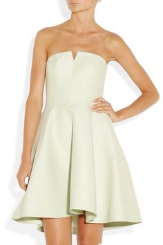 Halston heritage mint satin dress
