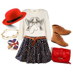 """""""British Accents"""" by brittney-guest on Polyvore - Put A Bird (and some hearts) On It!"""