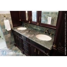 1000 images about natural stone in bathrooms - Jack and jill sinks ...