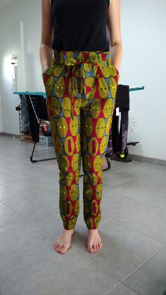 Pantalon Harper, la Maison Victor, Wax, cousu main, Marita African Fashion Ankara, African Wear, African Attire, African Dress, Jumper Suit, Couture Sewing, Africa Fashion, African Design, Ankara Styles