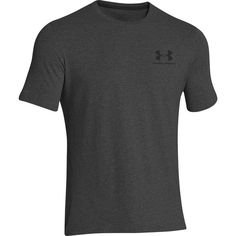 Under Armour Men s UA Charged Cotton Sportstyle Left Chest Lockup Tee -  Medium - Carbon Heather   Black 83444600426