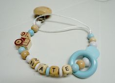 Personalized pacifier clip Babyshower new by YPhandmadeCreations
