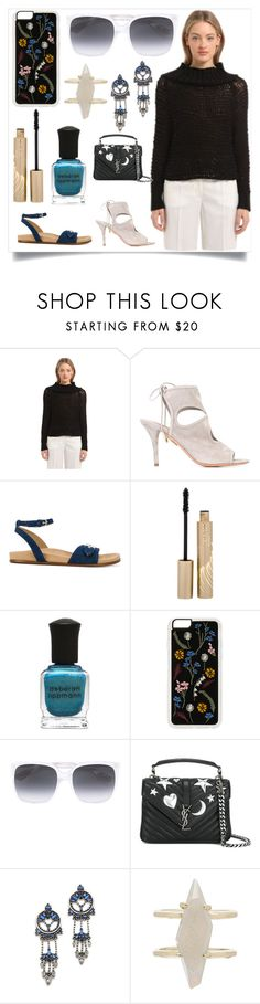 """Chic and beautiful"" by denisee-denisee ❤ liked on Polyvore featuring Calvin Klein Collection, Aquazzura, STELLA McCARTNEY, Stila, Deborah Lippmann, Zero Gravity, Gucci, Yves Saint Laurent, DANNIJO and Kendra Scott"