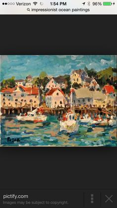 I'd like to try to do an expressionist painting as my next... It's so different from what I'm used to