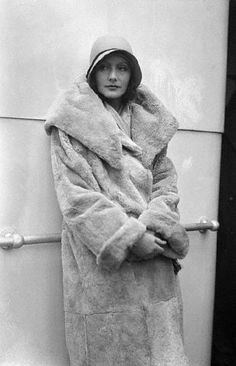 Greta Garbo, New York, Aboard the S.S. Kungsholm, 1928. Tumblr