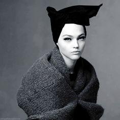 """abigaildonaldson:  """"Shape Shift"""" Sasha Pivovarova by Steven Meisel for Vogue Italia October 2014"""