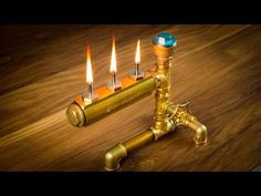 DIY Pipe Lamp Switch made with water faucet handle - YouTube
