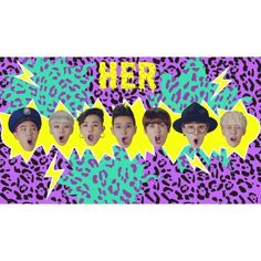 """Block B Gets Goofy and Playful in Music Video for """"H.E.R"""" ❤ liked on Polyvore featuring kpop"""