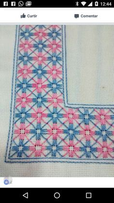 This Pin was discovered by Luc Swedish Embroidery, Hardanger Embroidery, Hand Embroidery Patterns, Cross Stitch Embroidery, Embroidery Designs, Cross Stitch Borders, Cross Stitch Flowers, Pineapple Embroidery, Bargello