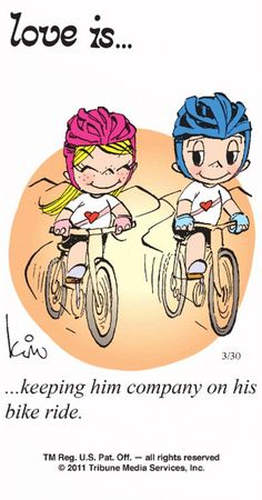 thk: Love is keeping him and follow him #Bikeridequotes
