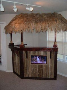 In case we have to make it for the corner; love the fish tank! Also love the bamboo veneer. The top is perfect!