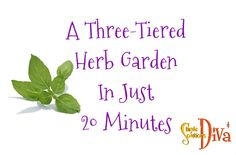Yes, in 20 minutes you really CAN make a three tiered herb garden. It is simple and, if you use clay pots, pretty cost effective! Supplies Needed: Five Clay Pots of various sizes – I used a Easy Garden, Herb Garden, Diy Garden Projects, Garden Ideas, Tiered Planter, Vegetable Garden Tips, Thing 1, Planters, Planter Garden
