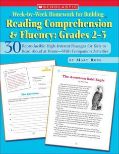Week-by-week Homework for Building Reading Comprehension and Fluency: 30 Reproducible High-Interest Passages for ...