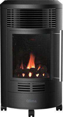 Estufa de gas QLIMA GH8034 · LEROY MERLIN Home Appliances, Wood, Home Decor, Products, Home Decorations, Sheet Metal, Steel, Doors, Lodge Style Decorating