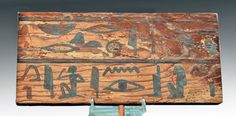 Egyptian Wood Sarcophagus Panel : Lot 3. ca. 2133-1991 BCE