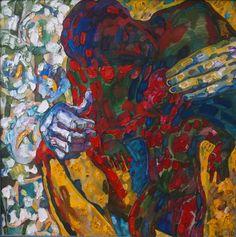 """Saatchi Art Artist Inna Kulagina; Painting, """"Fatherhood I"""" #art"""