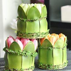 """""""Atados"""" para mesa de tulipanes"""
