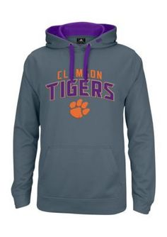 J. America Graphite Clemson Tigers Pullover Hoodie