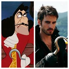 Once Upon a Time Hook vs. Disney Hook! ~I was not expecting Once Upon a Time's Hook to look...hot