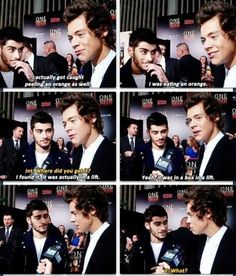 Not sure which is funnier, the video of Harry peeling the orange at the VMAs or this interview about the VMAs.