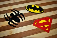Superhero Cake toppers! #spiderman #batman #superman #gumpaste #superheros #oldschool