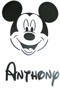 Personalized Mickey Mouse Iron On