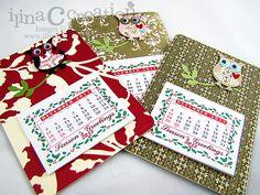 My Creations: Owl coasters magnet mini Calendars