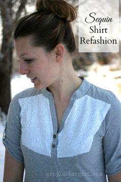 Sequin Shirt Refashion
