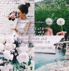 works well with greens, pinks, some light blues, and yellows Photography Filters, Photography Editing, Spring Photography, Vsco Pictures, Editing Pictures, Instagram Theme Vsco, Instagram Feed, Vsco Gratis, Foto Filter