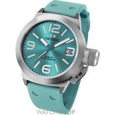 online shopping for TW Steel Canteen Turquoise Dial Turquoise Silicone Mens Watch from top store. See new offer for TW Steel Canteen Turquoise Dial Turquoise Silicone Mens Watch Fine Watches, Cool Watches, Watches For Men, Ladies Watches, Women's Watches, Wrist Watches, Swiss Watch Brands, Online Watch Store, Canteen