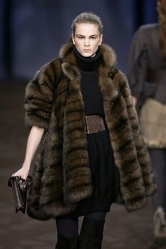 Fendi Russian Barguzin Sable Fur Coat