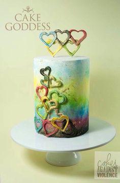 Cakes Against Violence  message of unity by CakeGoddessAustralia