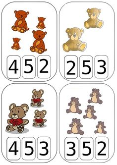 Numbers Preschool, Preschool Worksheets, Preschool Learning, Math Activities, Preschool Activities, Teaching Kids, Teddy Bear Day, Goldilocks And The Three Bears, Bear Theme