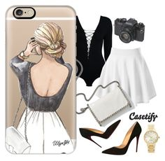 """""""Classy"""" by codilocks ❤ liked on Polyvore featuring T By Alexander Wang, STELLA McCARTNEY, Casetify, Christian Louboutin, Kate Spade, classy, Elegant and blackwhiteandgold"""