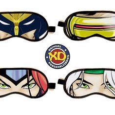 Máscara de dormir Super Heróis X-Men: Wolverine (Logan), Ciclope, Jean Grey, Vampira (Rogue)