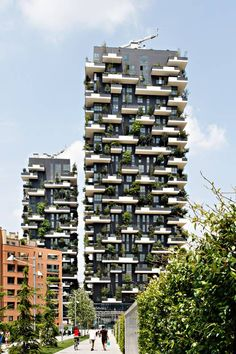 Bosco Verticale shows how to accommodate vertical gardens in a high-rise - creating generous outdoor living, and visually attractive facades