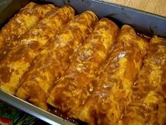 Real Beef Enchiladas, Spanish Rice, Refried Beans!