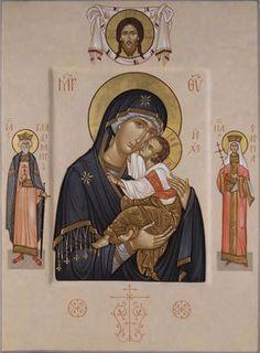 Mother of God, St Vladimyr, St Helen by Maxim Sheshukov