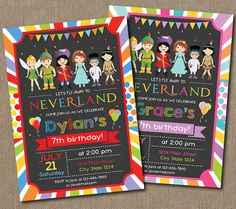 Neverland Invitation Neverland Invite by PixeleenDesigns on Etsy