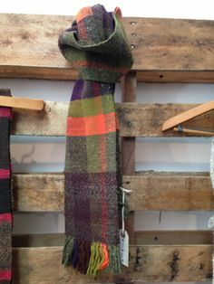 Handwoven scarf/ vibrant and soft selection of fibers by Jackpie, $80.00