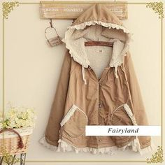 Buy 'Fairyland – Lace Trim Fleece-Lined Hood Jacket' with Free International Shipping at YesStyle.com. Browse and shop for thousands of Asian fashion items from China and more!