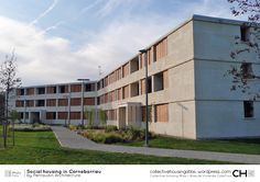 [Collective Housing Atlas] Social housing in Cornebarrieu by Perraudin Architecture Social Housing Architecture, Facade, Multi Story Building, Mansions, House Styles, Outdoor Decor, Collection, Atlas, Home Decor