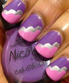 Pink and purple cloud manicure #purplenails #pinknails #nailart  #polishobsession - bellashoot.com