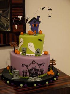 A Halloween Birthday Cake!
