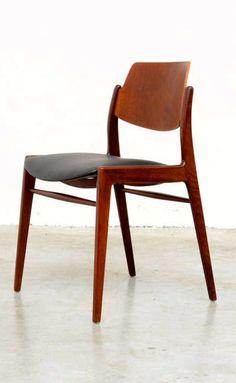 Hartmut Lohmeyer; Teak Side Chair for Wilkhahn, c1963.