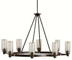 KICHLER KCH-2345-OZ Circolo Soft Contemporary / Casual Lifestyle Chandelier - Contemporary - Chandeliers - Arcadian Home & Lighting