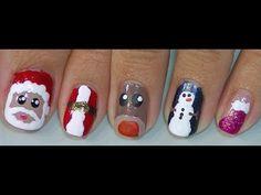 manicura navideña - YouTube                              …